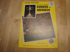 Aberdeen Football Scottish Fixture Programmes (1980s)