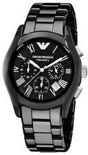 Emporio Armani AR1400 Ceramica Men's Black Chronograph Watch    New in Box