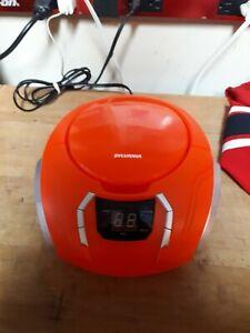 Sylvania Portable CD Boombox SRCD261-C Used Working Orange