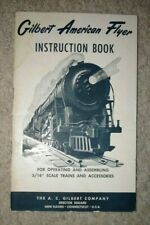 "1954 American Flyer Instruction Book for Operating and Assembling 3/16"" Trains"