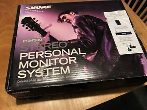 Shure PSM-300 Pro wireless personal, in-ear monitoring system, slightly used.