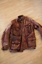 Belstaff Panther 1966 Leather Motorcycle Jacket Vintage size 46 Small 36 US