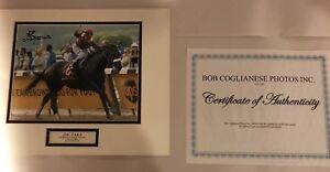 """Alan Garcia Da'Tara Horse Racing Belmont Stakes SIGNED 7 1/4"""" x 9 1/4"""" COA MATT"""