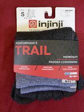 Injinji Trail Midweight Mini Crew Toed Hiking Socks Granite S