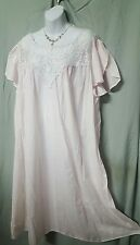 """45 """" LONG LIGHTWEIGHT  COTTON/POLY PINK NIGHTGOWN  SIZE 4X GIFT"""