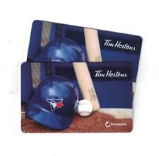 ( 2 ) Tim Hortons Toronto Blue Jays MLB Gift Cards