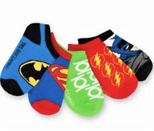 BATMAN SUPERMAN JUSTICE LEAGUE Boys 5-Pack Low Cut No Show Socks Kids Ages 1-4