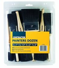 HARRIS 12 PIECE T-CLASS CONTRACTOR DECORATING PAINT BRUSH PAINTERS BRUSHES SET