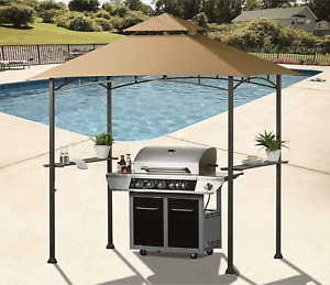 Replacement Canopy Roof 8 X 5 Ft Grill Shelter Beige Gazebo Waterproof Polyester