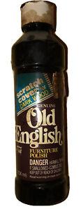 1985 Old English Furniture Polish (liquid) scratch remover darkwood Boyle-Midway