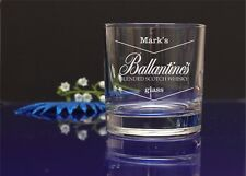 Personalised engraved Ballantines whisky glass/DAD,Birthday,Christmas/gift 60