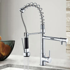 Chrome 360°Swivel Kitchen Sink Faucet Single Handle Pull Down Spray Mixer Tap