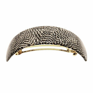 France Luxe Extra Volume Barrette in Opera Silver