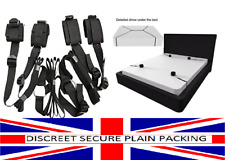 Underbed Restraint System Black Sexy Bondage Set Strap Cuffs Quality Adult Kit