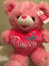 Way To Celebrate Valentine's Day Pink Princess Sweetheart Teddy Bear