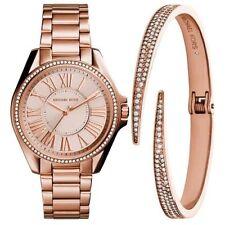 Michael Kors Women's Kacie Bracelet Watch St. Steel And Bracelet Box Set MK3569