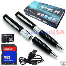 16GB Spy Rec Pen Camera Hidden DVR Surveillance Video Cam Camcorder USB SILVER
