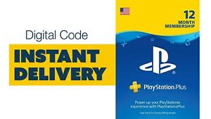 🚨 Playstation Plus 12 month subscription - Digital Code - INSTANT DELIVERY 🚨