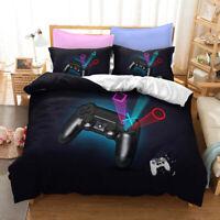 3D Hot Console Buttons Doona Duvet Cover Bedding Set PillowCase Game Playstation