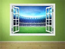 Football Stadium Boys Kids Bedroom Window Wall Art Sticker Decal Transfer P4W