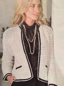 Ladies Chic Jacket Crochet Pattern