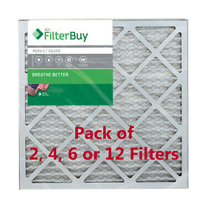 FilterBuy 20x20x1 Air Filters, Pleated Replacement for HVAC AC Furnace (MERV 8)