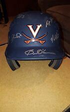 Virginia Baseball Team Signed Batting Helmet 2014 CWS Runner Up Hoos Cavaliers