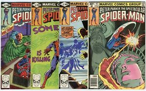 Spectacular Spider-Man #42 - 63  Complete Run  avg. VF/NM 9.0  Marvel  1980