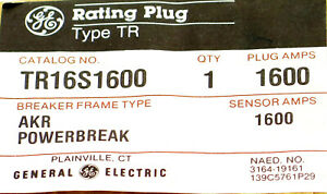 GE TR16S1600 Rating Plug AKR POWERBREAK 1600A