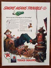 1942 Texaco Havoline Motor Oil Smoke Means Trouble Dorne Art Vintage Print Ad