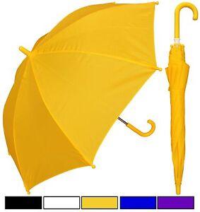 "Lot of 12 - 32"" Arc Children Kid Solid Color Umbrellas -RainStoppers Rain/Sun UV"