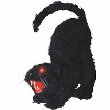 Halloween Black Cat Haunted House Prop Lights Up Spooky Sound Party Decoration