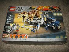 Lego Jurassic World T. Rex Transport 75933 3 Figs Tyrannosaurus 609 pcs Sealed