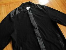 Paper Denim & Cloth ALL BLACK Bomber Jacket sz XL thermal windbreaker