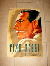 Ancienne affiche / vintage poster - TINO ROSSI - COLUMBIA - ANDRÉ - 1941