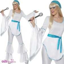 Damen super Trooper 70s Kostüm Hut 1970s Disco Outfit L