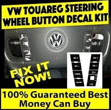 2004 – 2009 Volkswagen Touareg Steering Wheel  Matte Black Decals Sticker Set.