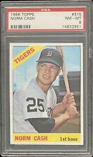 1966 Topps Detroit Tigers  Norm Cash  PSA 8  Card #315