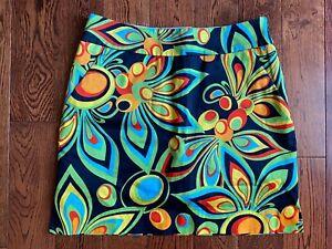 MINT Loudmouth Ladies Golf Skirt Skort Size 0 Multicolor Floral SHAGADELIC BLACK