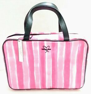 Victoria's secret Women PINK Makeup Bag Cosmetic Case Storage Handle Travel New