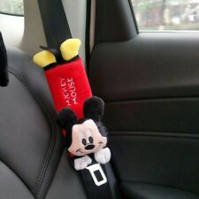 "Mickey Mouse Car Seat Belt Cover Shoulder Pads 9"" Disney Plush (Set of 2)"