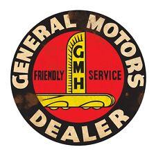 GENERAL MOTORS GMH   ROUND  TIN SIGN RUSTIC 55cm DIAMETER LARGE
