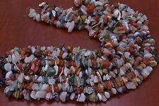 1000+ PCS ASSORT BIG COLOR DRILLED GEM STONE ROCK CHIPS BEADS 2 LBS #BD-15B