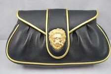 Leather Clutch Bag Dooney&Bourke Hayden Panettiere - Black & Gold RRP US$295 NEW