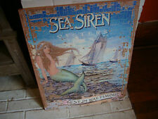 Large Sea Siren Oysters Nautical Mermaid Beach Ocean Sailing Ships Sign Decor