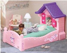 Cama Niñas Casa Princesa Cama Individual Rosa Con Persianas Colchón Y Base