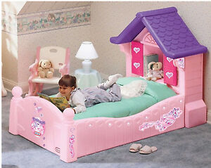 Bed Girls Home Principessa Single Bed Pink with Shutters Mattress & Base