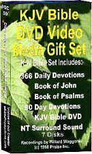 DVD Video Media KJV Bible Gift Set 7 DVD 249 Hours