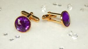 G/P Cuff link & 12 mm Purple Star Faceted Acrylic Stones. Accessories. Gifts