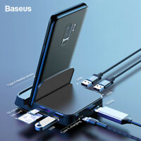 Baseus USB Type C HUB HDMI USB SD/TF Docking Station Power Adapter for PC Phone